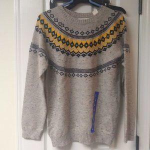 Weatherproof Vintage Fair Isle Knit Sweater New